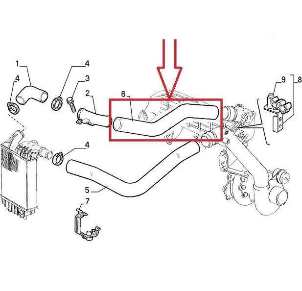 Turbo tubo dell/'aria di tubo per JUMPER BOXER 1307421080 0382.q8 DUCATO