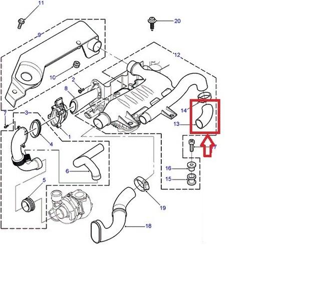 Land Rover Freelander 2 0 Diesel Td4 Turbo Intercooler Hose