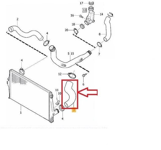 VOLVO XC90 2.4 D5 INTERCOOLER PIPE TURBO BOOST HOSE AIR TUBE 31261366